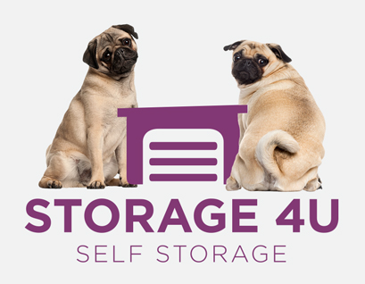 Storage 4U logo with friendly pugs