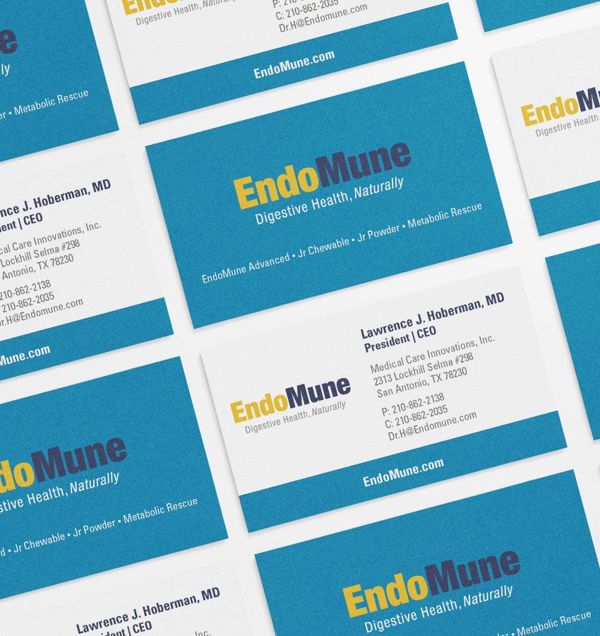 EndoMune business card mock-up