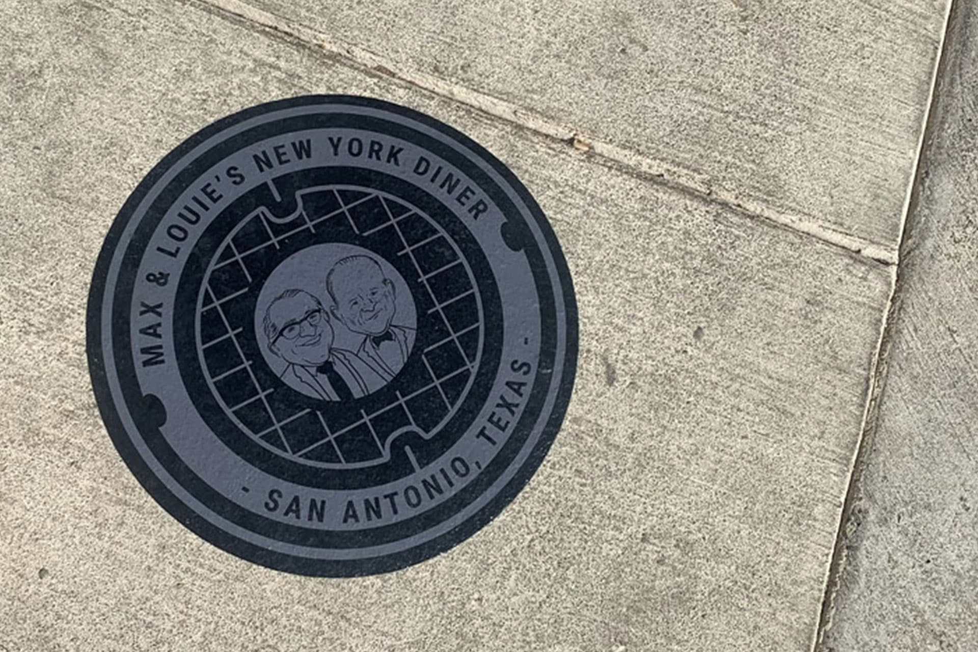 Max & Louie's New York Diner Manhole