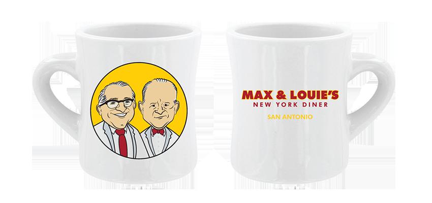 Max & Louie's New York Diner San Antonio mug design