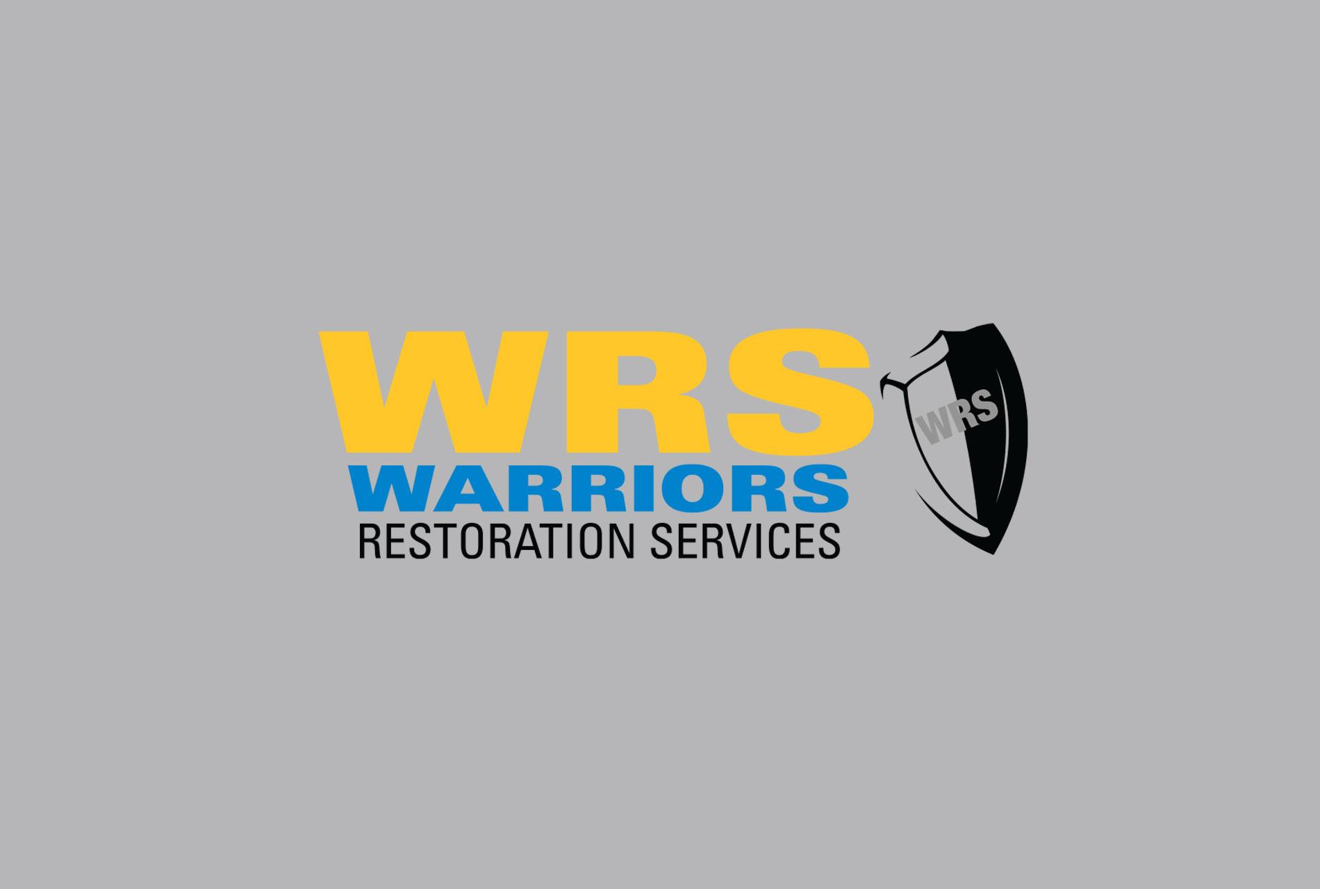 Warriors Restoration Services colored logo with emblem
