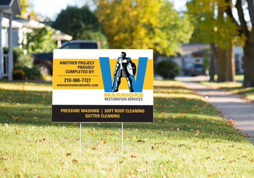 Warriors Restoration Services yard sign
