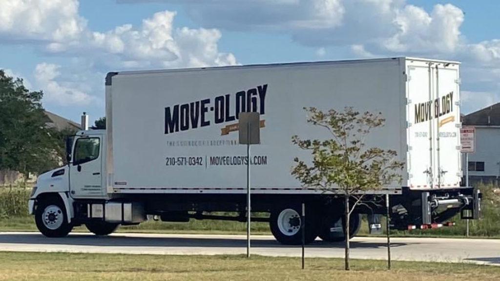 Moveology moving truck signage
