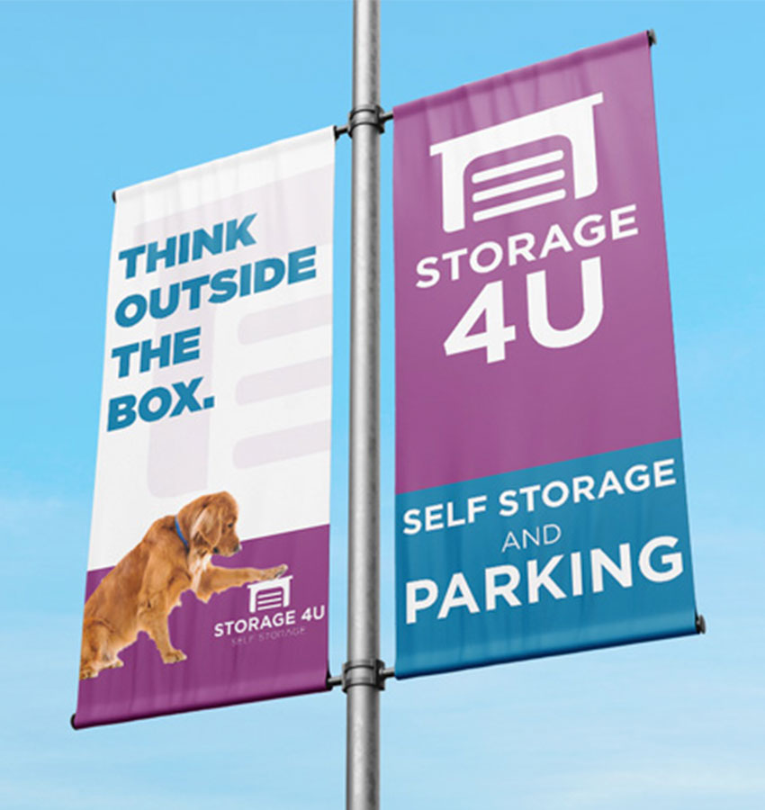 Storage 4U self storage outside banner