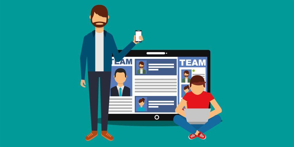 Social media marketing branding graphic