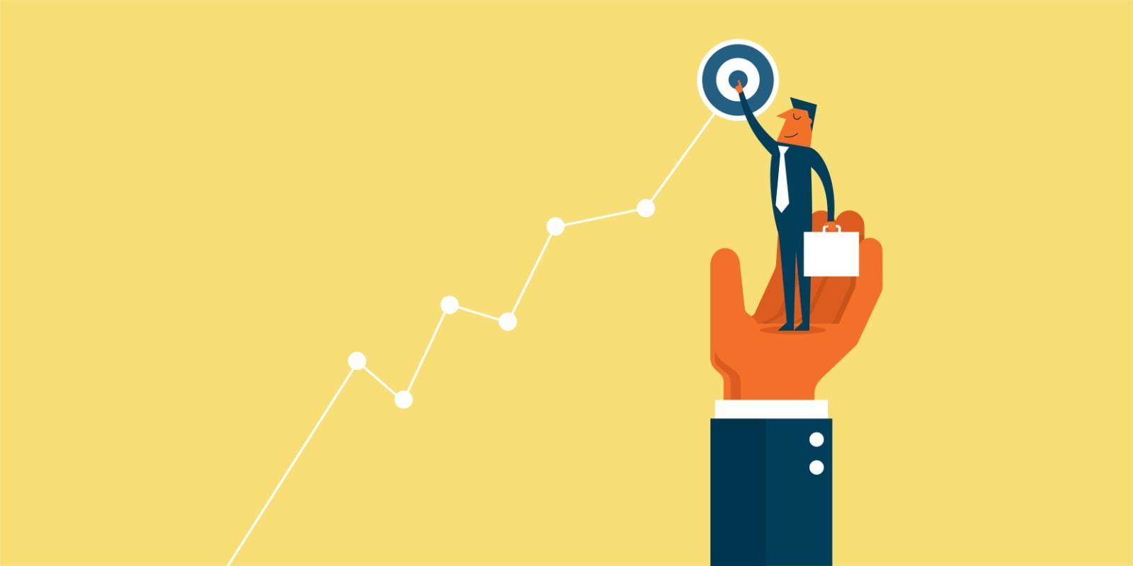 social media marketing set goals graphic