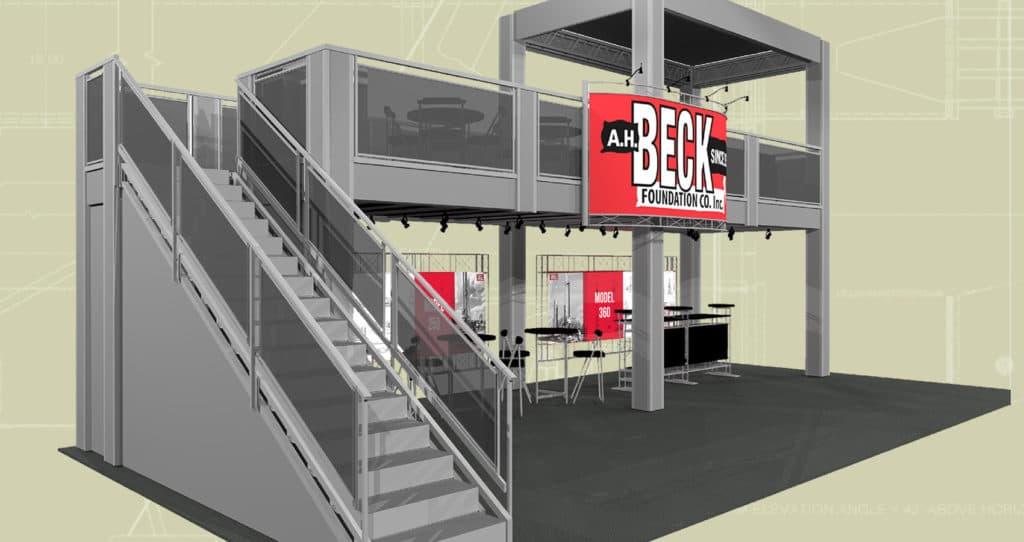 AH Beck Foundation Tradeshow Mockup