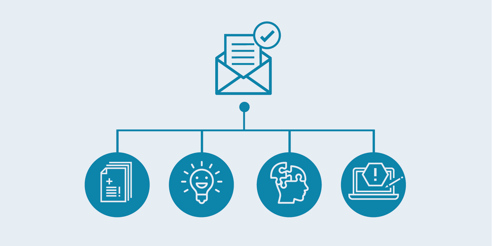 illustrated email icons